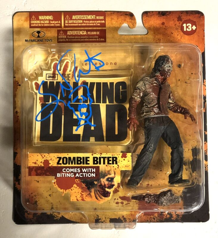 Greg Nicotero Signed The Walking Dead McFarlane Zombie Figure Rare PROOF WOW