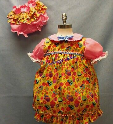 Cupcake Costumes For Babies (ABDL Baby Dress and diaper cover with cupcakes and lollipops perfect for the)