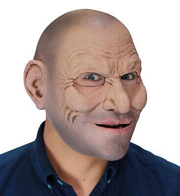 Crazy Thug Jack Perfect Fit Latex Bald Guy Mask Adult Size Mask - Bald Cat Halloween