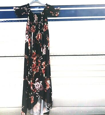 boohoo Women's Floral Off The Shoulder Dress Xl Plus Size
