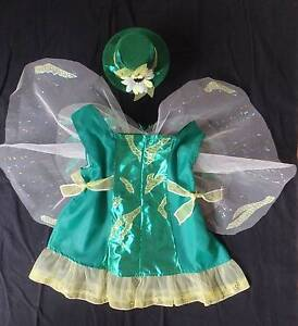 Costume: Tinkerbell  Shimmer Green with Hat - Size 3-4 NEW Greenwood Joondalup Area Preview