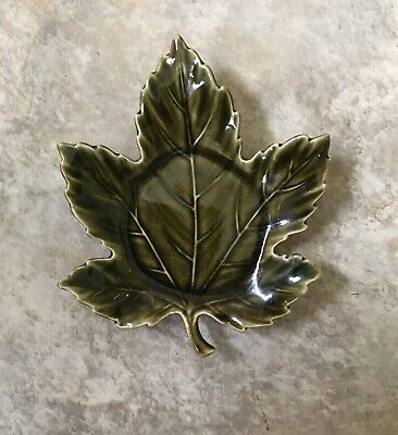 Yankee Candle Ceramic Autumn Leaf Shaped Tea Light Candle Dish