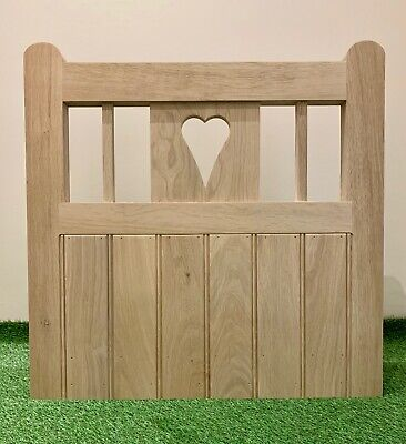 Solid Oak 'Enclosed Heart' Garden Gate Handcrafted Gate Hardwood European Oak