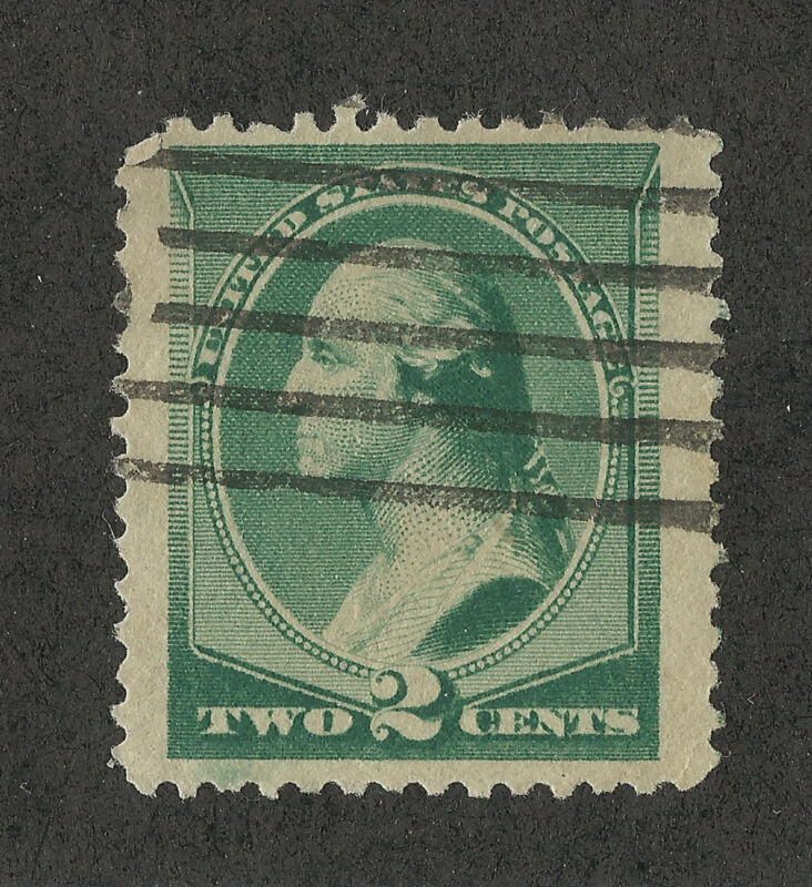 Us 213 @ (1887) Used, Fvf- Efo: Green Lower Left Corner
