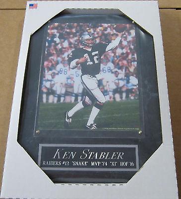 KEN STABLER OAKLAND RAIDERS FRAMED 8X10 PHOTO-MAN CAVE ART-12X15 WALL PLAQUE - Ken Stabler Oakland Raiders Framed