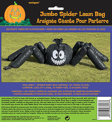 Halloween Riesiges Spinne Rasen Blatt Tasche Dekorationen Requisite Garten (Halloween Spinne Dekorationen)