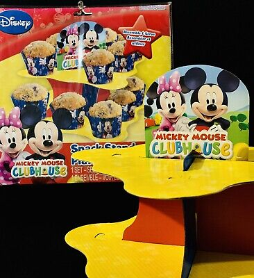 MICKEY & MINNIE CLUBHOUSE Cupcake Snack Stand 2 Tier Birthday Party Supply-NEW