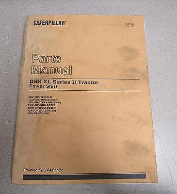 Caterpillar Cat D5h Xl Series Ii 2 Tractor Power Shift Parts Catalog Manual 1992