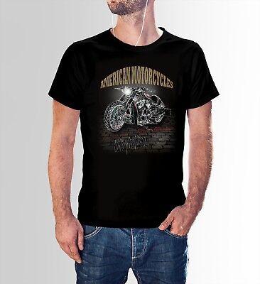 Harley Davidson Motorrad T-shirt (Harley Davidson Motorbike Motorrad American King T-shirt Schwarz u. Weiss)