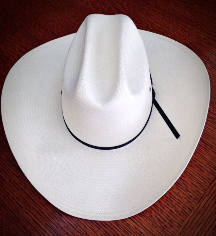 Excellent Resistol Straw Western Cowboy Hat Long Oval Cattleman - Size 6 3/4