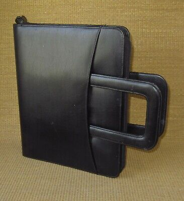 Monarch Franklin Covey Black Sim. Leather 1.25 Rings Plannerbinder Handles