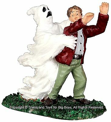 Lemax 42206 GHOST GRASPS VICTIM Spooky Town Figurine Village Halloween Decor G - Halloween Ghost Town Decorations