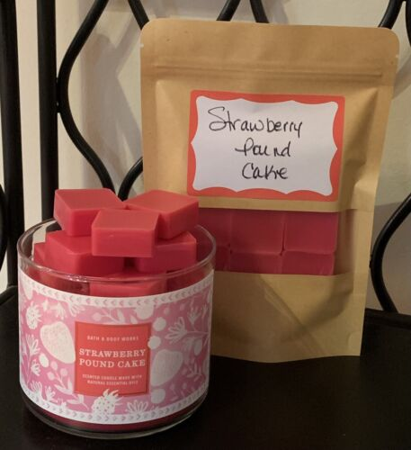 Bath & Body Works Strawberry Pound Cake LARGER Size Cube Can