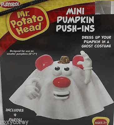 Halloween Mr Potato Head Mini Pumpkin Push In Ghost Costume 9 Parts NIB