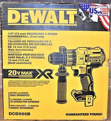 Dewalt Dcd996b 20v Max Xr Brushless 12 Hammer Drill - New