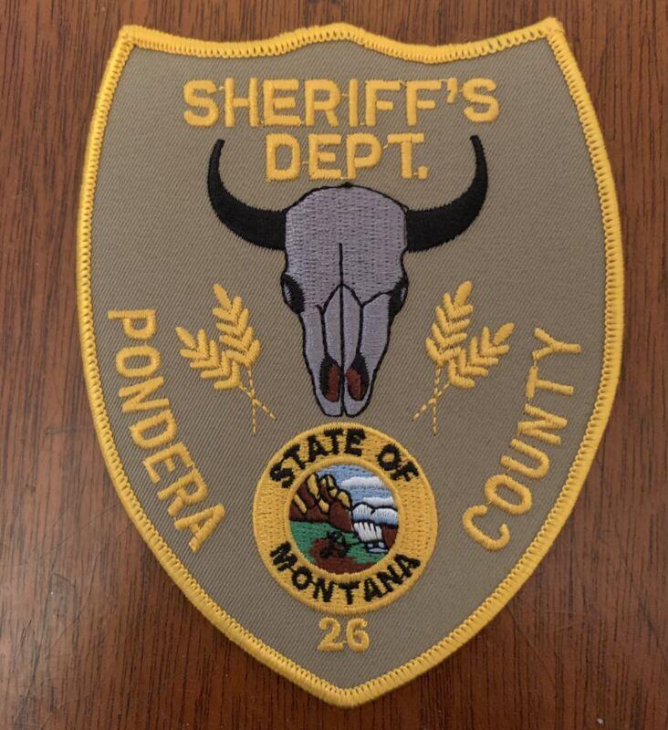 Pondera County Sheriff Patch State Montana Rare NEW!