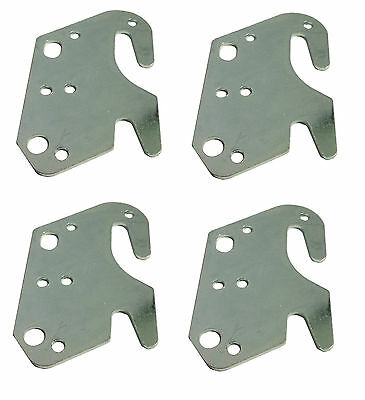 Set of 4 Universal Wood Bed Rail Replacement Metal Claw Hook Plates