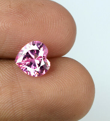 Pink Sapphire Loose Gemstone Ceylon 2.20 Ct Heart Shape Natural AGSL Certified