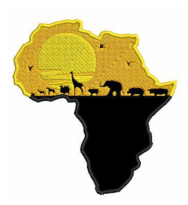 Africa Savanah Animals Embroidered Patch Iron/Sew-On Applique Travel Souvenir