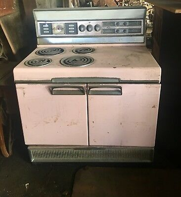 Vintage Classic 50's Pink Frigidaire Electric Stove For Restoration Ship ???zip