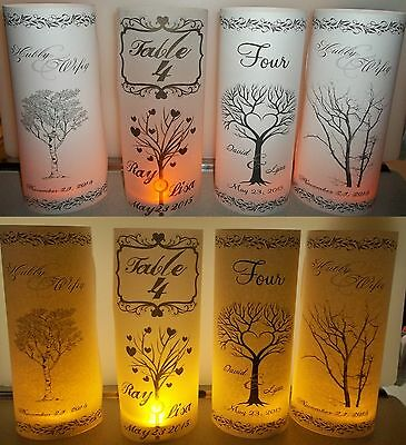 10 Personalized Tree Wedding Luminaries Table # Centerpieces Decoration Lanterns](Tree Wedding Centerpieces)