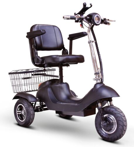 Ewheels Ew-20 3-wheel Fast Scooter, Usb Port, Cell Holder, Basket, 21 Miles/chrg