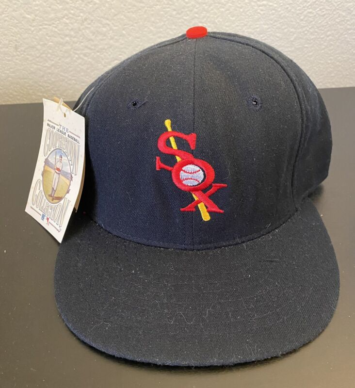 New 1932-35 CHICAGO WHITE SOX 100% Wool THROWBACK Baseball Cap Fitted Size 7 Hat