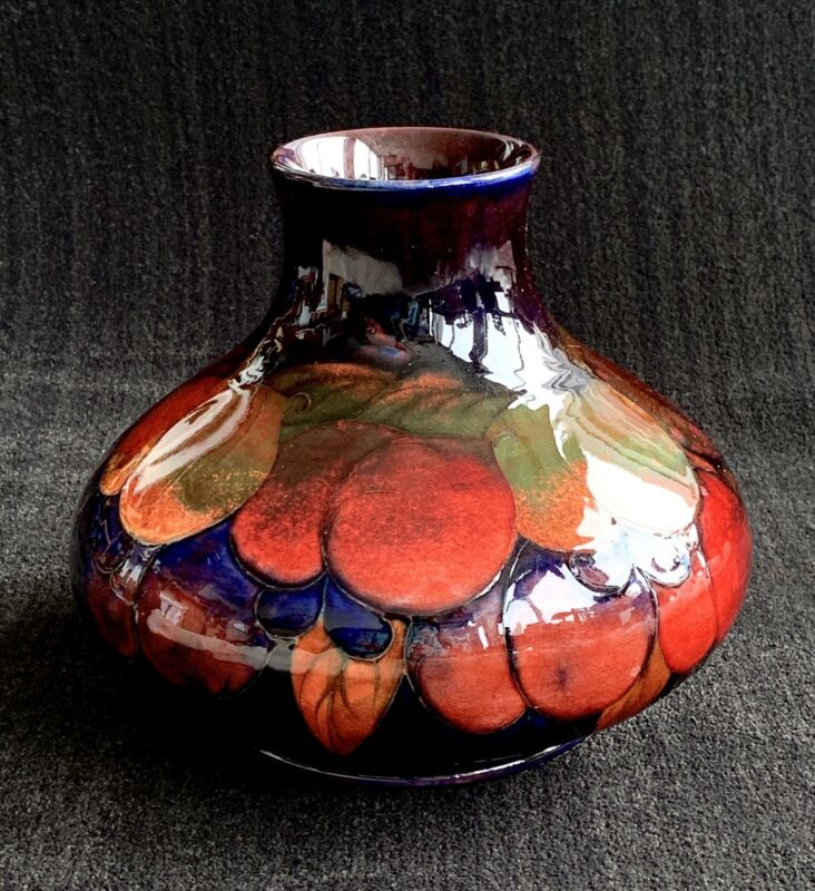 William Moorcroft signed Vase ~ pomegranate