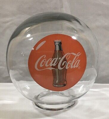 Vintage Coca-Cola Glass Globe  ONLY Gumball Candy Dispenser Machine