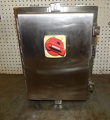 Hoffman A-16h1208ss6lp Stainless Steel Enclosure With Disconnect Switch