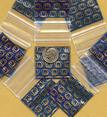 100 Royal Crowns Baggies 1.5 X 1.5 Minizips 1515 Apple Mini Ziplock Bags