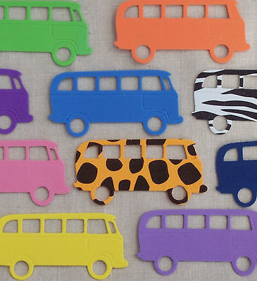 FUNKY FOAM x5 VW CAMPERVANS Dubs die cuts Boys Embellishments Kids Craft