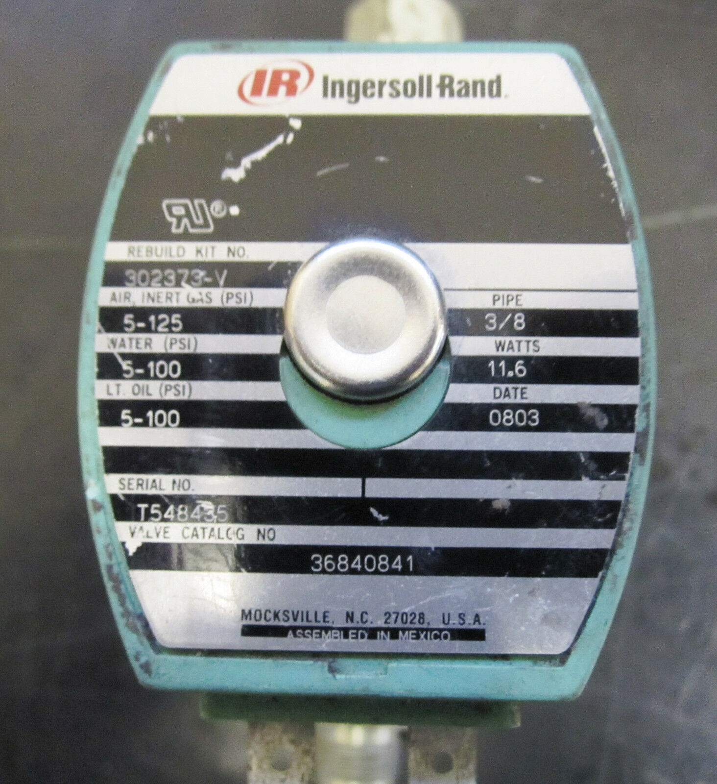 Ingersoll Rand Start Run Valve Solenoid Part No 36840841 4995 4 Of See More