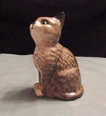 Small Collectable Brown Beswick Cat Ornament