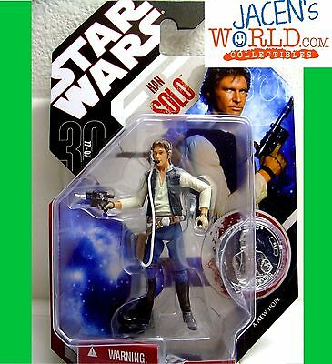 "HAN SOLO #11 ACTION FIGURE 3.75"" HASBRO STAR WARS 30TH ANNIVERSARY MOVIE"