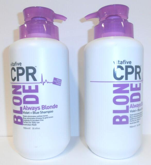 Vita 5 CPR Always Blonde SHAMPOO & CONDITIONER 900ML + Pumps