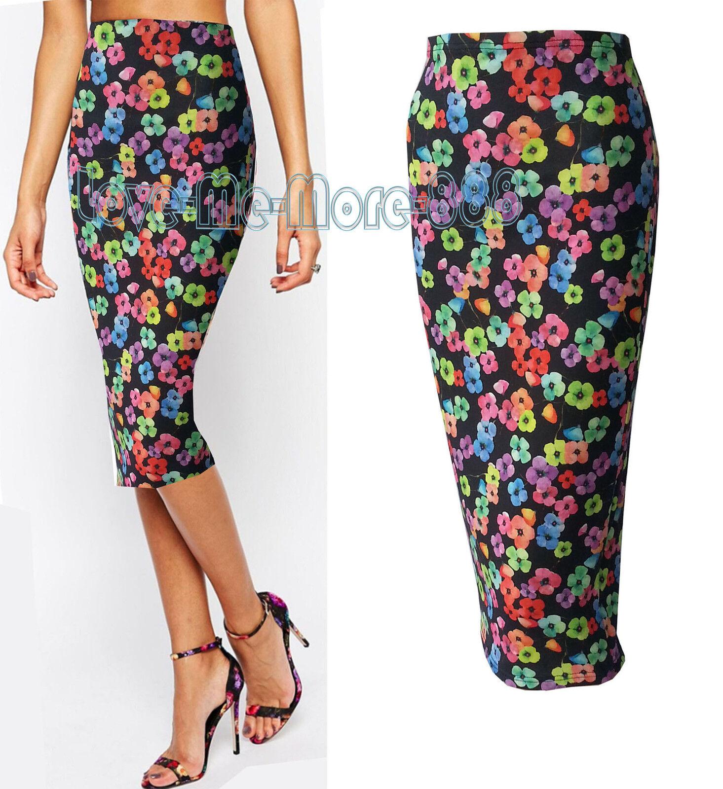 Women Summer Casual Club Celebrity Pencil SLIM Maxi LONG Skirt ...
