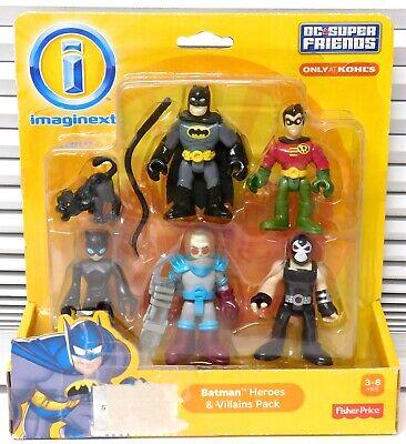 New IMAGINEXT DC SUPER FRIENDS BATMAN HEROES & VILLAINS Freeze Bane Cat Woman