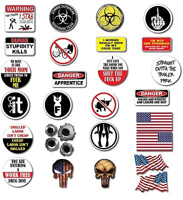 29 3m Funny Hard Hat Helmet Sticker Combo Value Pack Decal Construction Toolbox