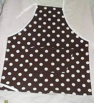 Brown with White Polka Dots Design Homemade Child Size (Kids Polka Dots Apron)