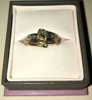 Engagement Ring 1c of Diamonds 18ct Yellow Gold, New Is $8298.00!