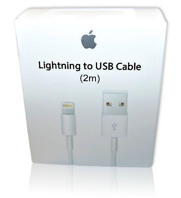 New Original OEM Apple iPhone Lightning USB Cable Charger 2m 6ft XS XR 6 8 plus segunda mano  Embacar hacia Argentina