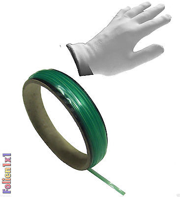 1,39€/m 10m x 3mm Knifeless Tape Folien schneiden ohne Messer & 1 Wrap Handschuh