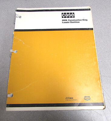Case 680k Construction King Loader Backhoe Parts Catalog Manual 1985 8-2260