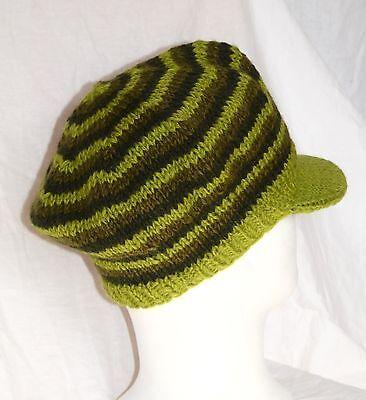 hild Wolle woolen hat knitted with visor Rasta  Dreadlocks (Mütze Mit Dreadlocks)