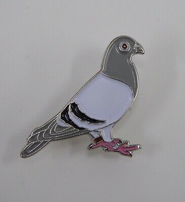 Metal Enamel Pin Badge Brooch Pigeon Bird Racing Wood Homing Dove Wildlife