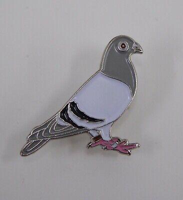Metal Enamel Pin Badge Brooch Pigeon Bird Racing Wood Homing Dove Wildlife