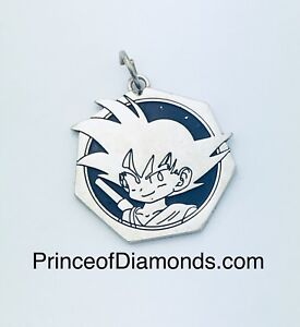 Silver coloured dragon ball Z pendant charm