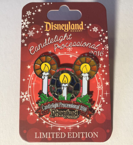 Disney Collector Pin Candlelight Procession 2016 LE 1500 Disneyland