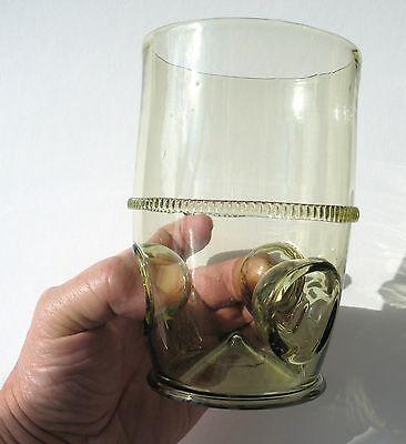 Waldglas Böhmen   Exklusive hochwertige Handarbeit Glas Replika Daumenglas Top
